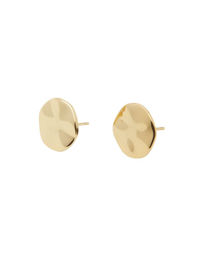 Chloe Small Stud Earrings, Gold