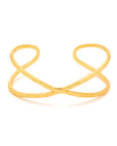 Elea Crisscross Cuff Bracelet, Gold