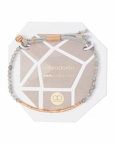 Power Gemstone Labradorite Bracelet for Balance, Rose Gold