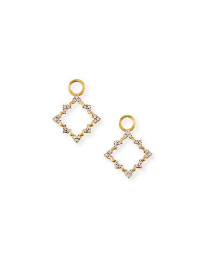 Moroccan Open Earrings Charms with Diamonds