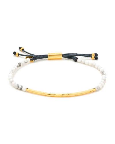 Power Gemstone Howlite Bracelet for Calming, Gold