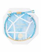 Power Gemstone Turquoise Bracelet for Healing, Gold
