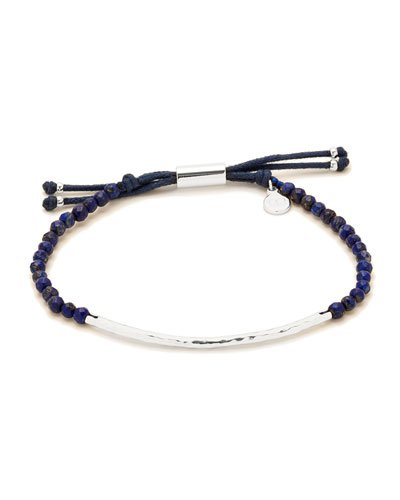 Power Gemstone Lapis Bracelet for Wisdom, Silver