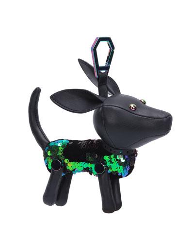Sophie Sequined Dog Charm for Handbag
