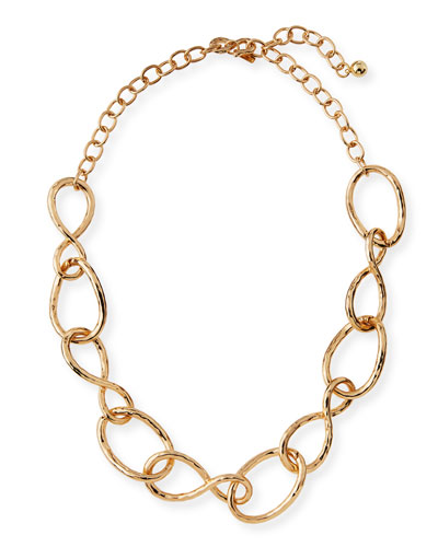 Twisted Open Link Necklace, 20