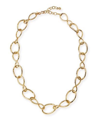 Twisted Open Link Necklace, 30