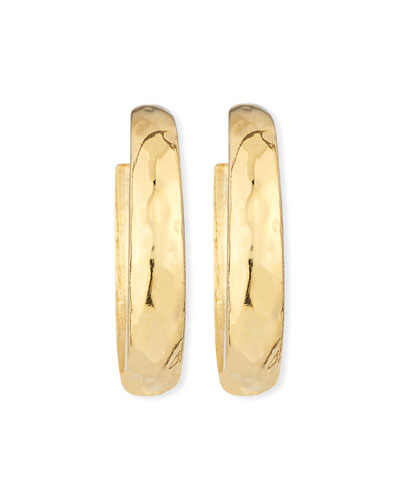 Hammered Large Hoop Clip-On Earrings