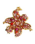 Pave Crystal Flower Pin