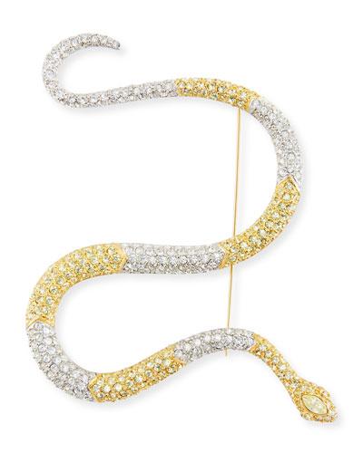 Segmented Pave Crystal Snake Pin