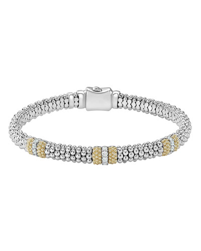 6mm Diamond Lux Three-Station Bracelet