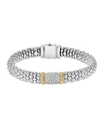 Diamond Lux Wide Station Bracelet