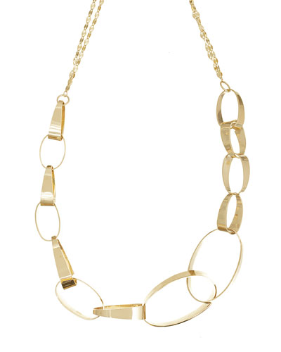 14K Small Gloss Link Necklace