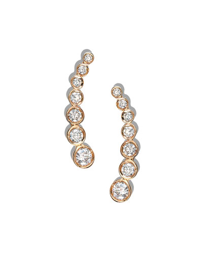 FEMME FATALE DIAMOND CLIMBER EARRINGS