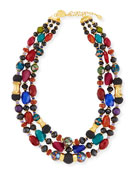 Three-Strand Mixed Bead Necklace