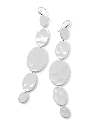 925 Classico Extra Long Linear Oval Earrings