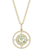 Apollo Green Amethyst & Diamond Pendant Necklace