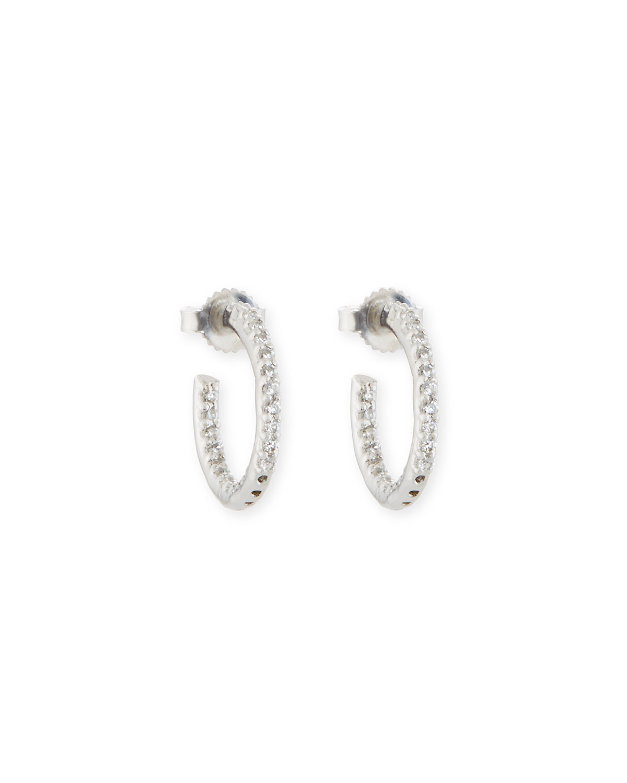 Tiny Inside-Out CZ Hoop Earrings
