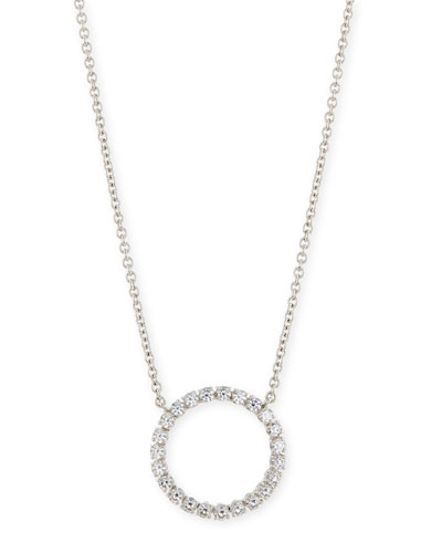 Medium CZ Circle Pendant Necklace