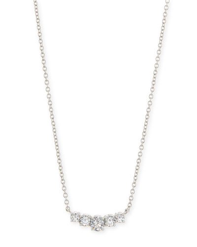 Graduated Round CZ Pendant Necklace