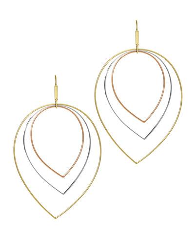 Three-Tier Mixed-Shape Earrings