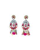 Beaded Charm Clip-On Earrings