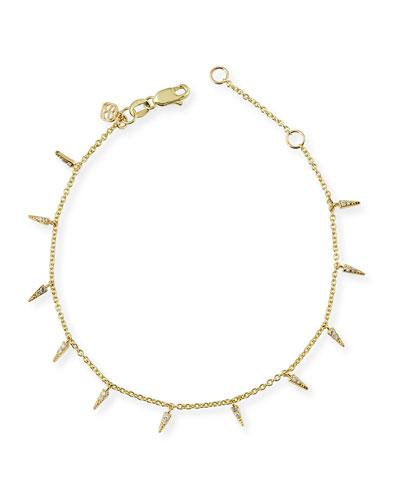 Fringe Charm Bracelet with Diamonds