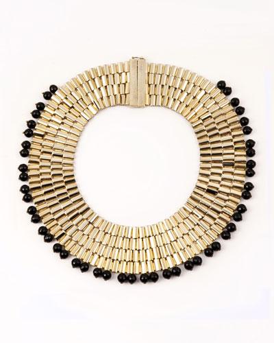 Cleopatra Beaded Collar Necklace