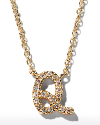 52fc485e6 Quick Look. Sydney Evan · Diamond Initial Pendant Necklace. Available in  Gold