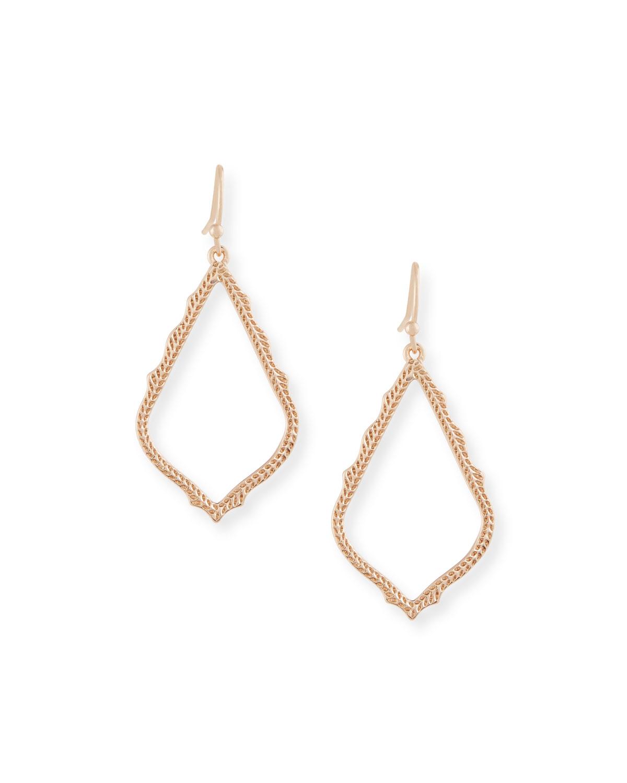 Sophia Statement Earrings in 14K Rose Gold Plate