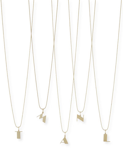 Pure Initial Charm Necklace