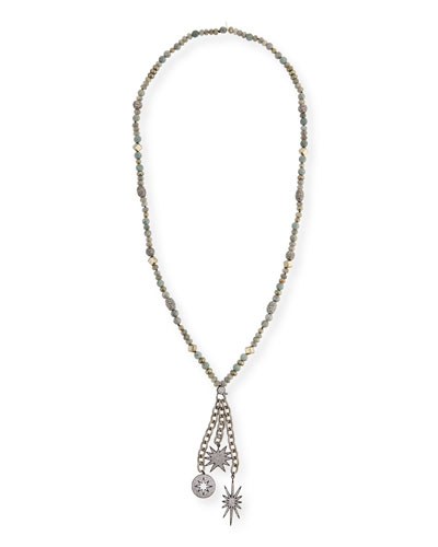 Gwen Beaded Charm Necklace