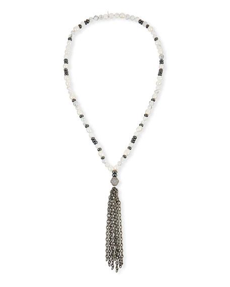 Hipchik Howlite & Pyrite Beaded Necklace