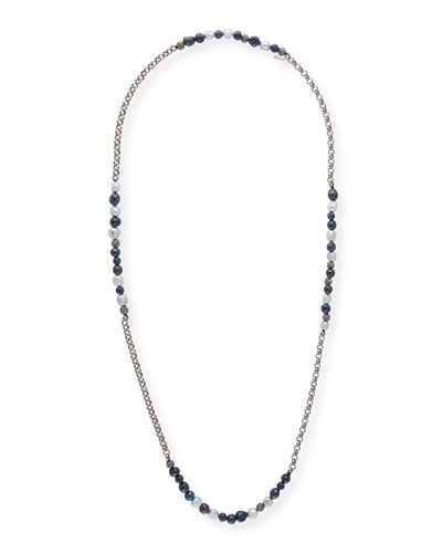 Rolo Beaded Gunmetal Necklace