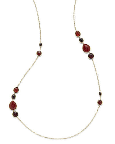 18K Rock Candy Gelato Grouped Station Necklace, 37