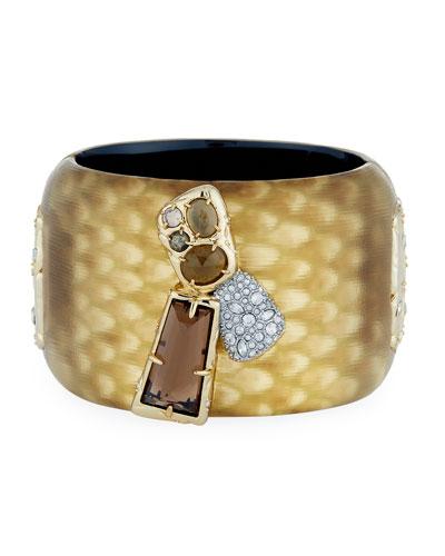 Wide Rocky Lucite Bracelet