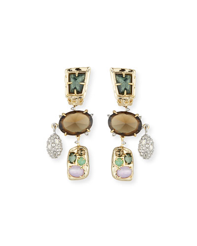 Rocky Chandelier Clip-On Earrings