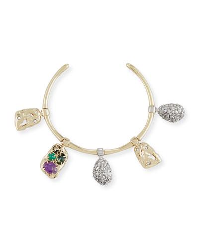 Swinging Charm Cuff Bracelet