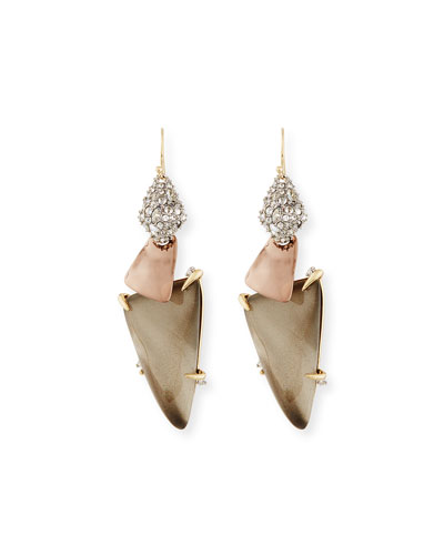 Long Triangle Lucite Drop Earrings