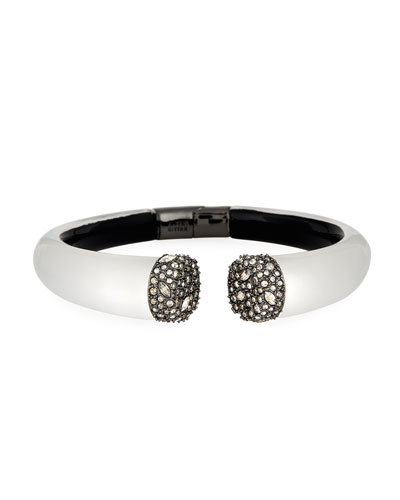 Pavé Crystal Break Hinge Bracelet