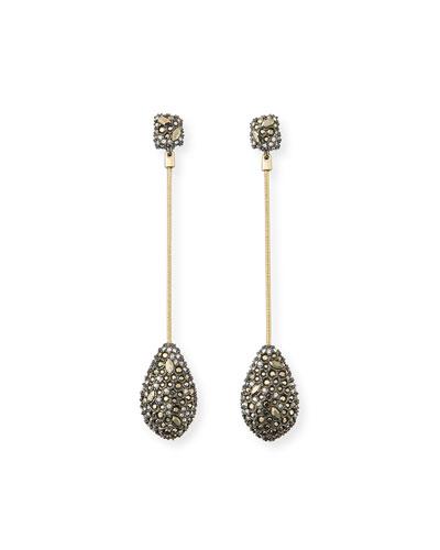 Pave Crystal Teardrop Earrings