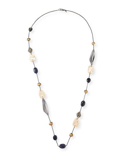 Pyrite Station Necklace