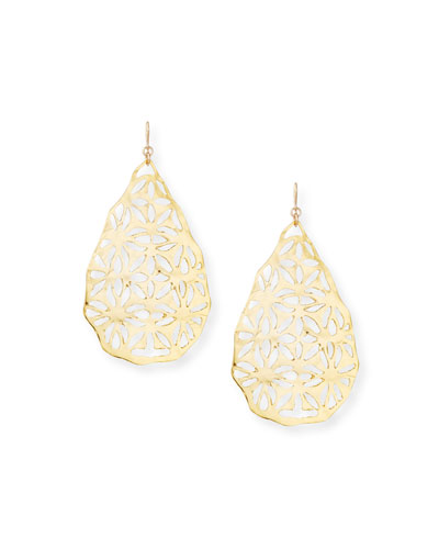 Quick Look Devon Leigh Large Filigree Drop Earrings Available In Gold