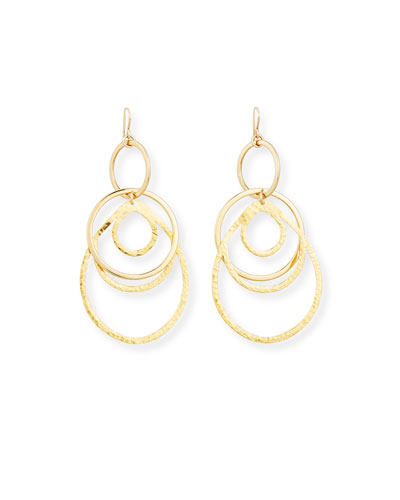 Multi-Hoop Pendant Drop Earrings
