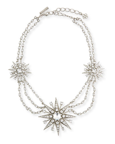 Crystal Star Statement Necklace