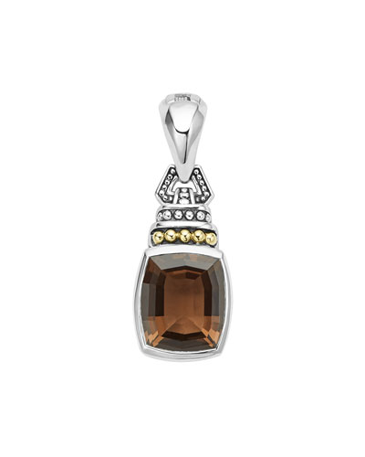 Caviar Color Pendant with Smoky Quartz