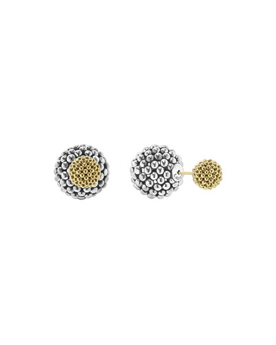 d528fb94dd7d5d Quick Look. LAGOS · Sterling Silver & 18K Gold Front-Back Ball Earrings