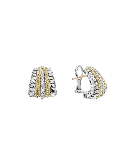 Lagos Lux Large Earrings with Diamonds
