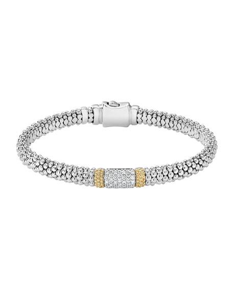 Lagos Diamond Lux 6mm Single Station Bracelet with Diamonds
