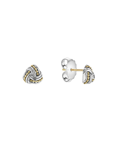 Lagos 8.5mm Pearl Caviar Earrings FqFY4b
