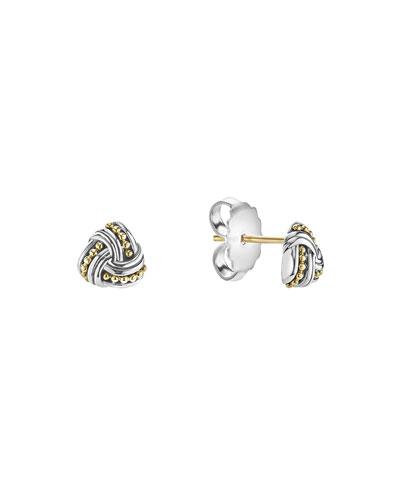 Small Caviar Knot Earrings